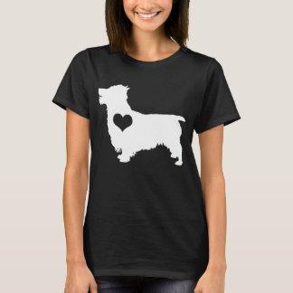 T-shirt d'obscurité de coeur de Terrier australien