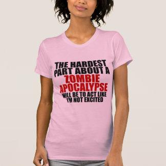 T-shirt d'obscurité de dames d'apocalypse de zombi
