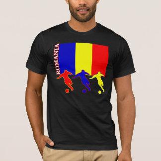 T-shirt d'obscurité de la Roumanie du football