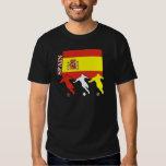 T-shirt d'obscurité de l'Espagne du football