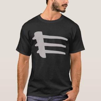 T-shirt d'obscurité de liston de côté d'argent de