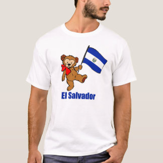 T-shirt d'obscurité d'ours de nounours du Salvador