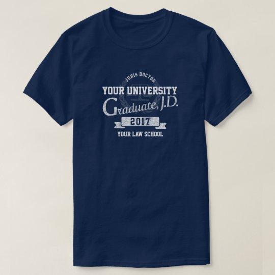 T-shirt d'obtention du diplôme de diplômé d'école