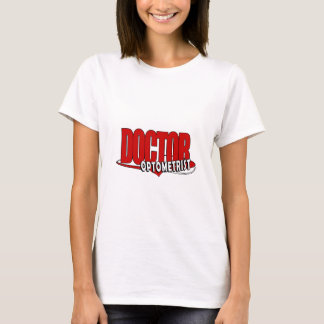 T-SHIRT DOCTEUR BIG RED DE LOGO D'OPTOMÉTRISTE