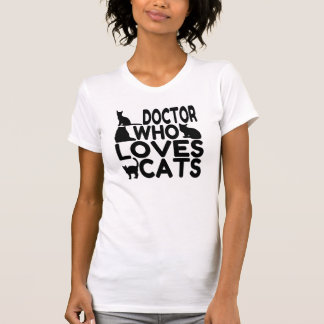 T-shirt Docteur Who Loves Cats