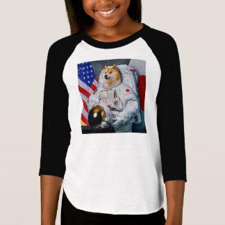 T-shirt Doge chien-mignon d'astronaute-doge-shibe-doge de