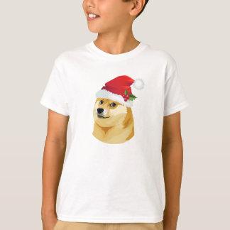 T-shirt Doge de Noël - doge de père Noël - chien de Noël