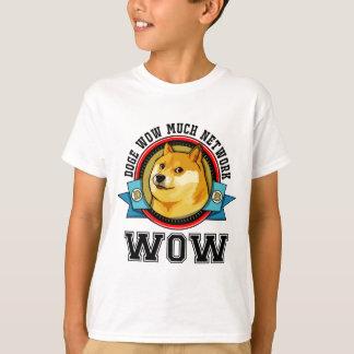 T-shirt Doge wow beaucoup de réseau wow
