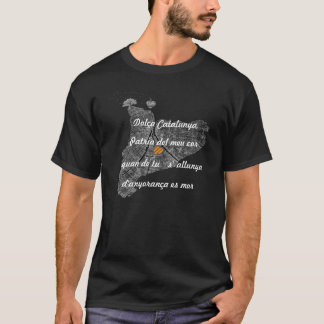 T-shirt Dolça Catalogne, Patrie du meu cor