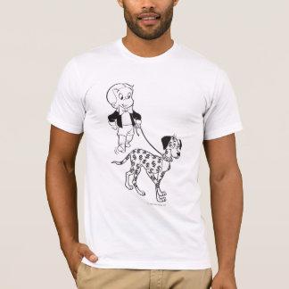T-shirt Dollar de promenades de riches de Richie le chien