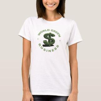 T-shirt Dollar World Green Business
