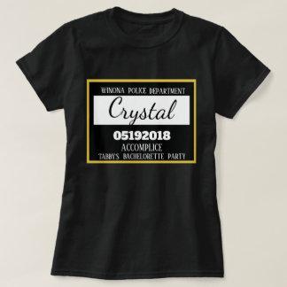 T-shirt Domestique de partie de Bachelorette de prison