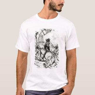 T-shirt Don don Quichotte et les moulins à vent