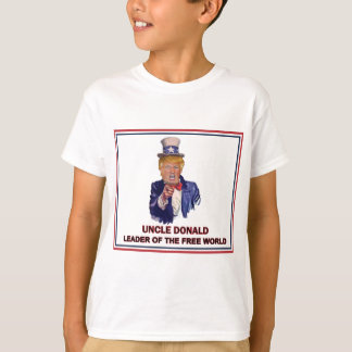 T-shirt Donald Trump/chef d'Oncle Sam du monde libre !