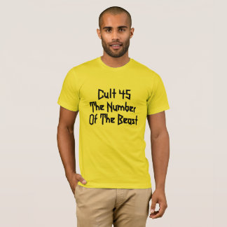 T-shirt Donald Trump est le culte 45 : Le nombre de la