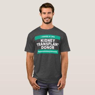 T-shirt Donateur de greffe de rein - couleur foncée