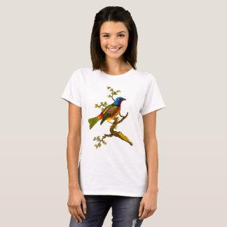 T-shirt donnant un petit coup peint d'oiseau