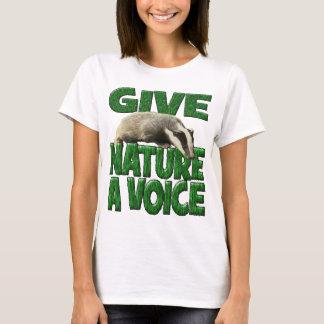 T-shirt DONNEZ à NATURE un blaireau CUB de VOIX