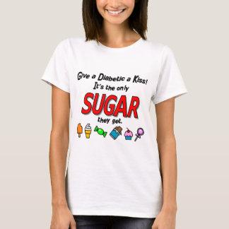 T-shirt Donnez à un diabétique un baiser