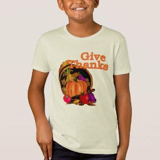 T-Shirt Donnez la corne d'abondance de mercis pour le