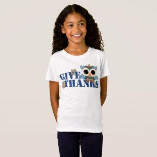 T-Shirt Donnez le hibou de mercis