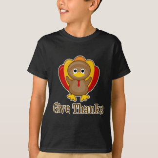 T-shirt Donnez le thanksgiving Turquie de mercis