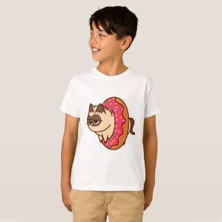 T-shirt Donuts Cats pink