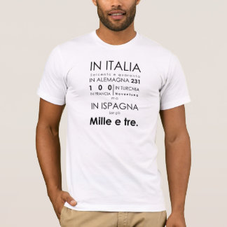 T-shirt d'opéra de Don Giovanni