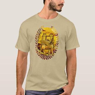 T-shirt d'or assyrien de porte de Lamassu et