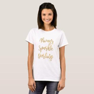 T-shirt D'or chouchou d'étincelle toujours