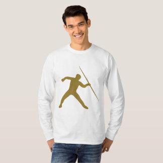 T-shirt d'or de douille de jet de javelot long