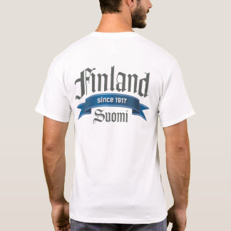 T-shirt Dos de la Finlande depuis 1917