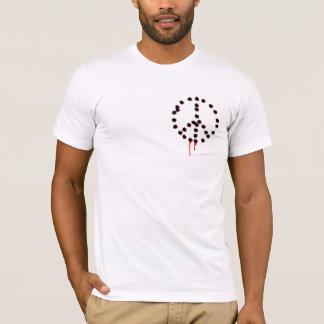 T-shirt Dos : La paix ne peut pas être réalisée par la
