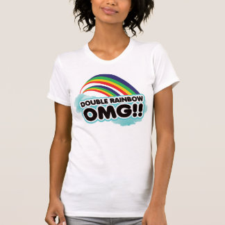 T-shirt double arc-en-ciel OMG !