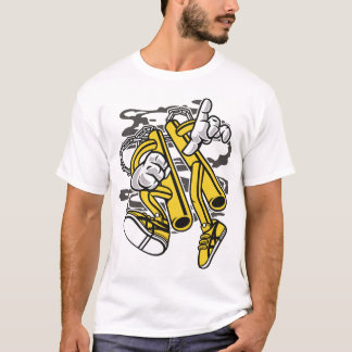 T-shirt Double bâton-man