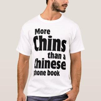 T-shirt Double Chin - plus de mentons qu'un annuaire