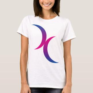 T-shirt Doubles lunes bisexuelles