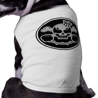 T-shirt doudoune pour chien skullhead