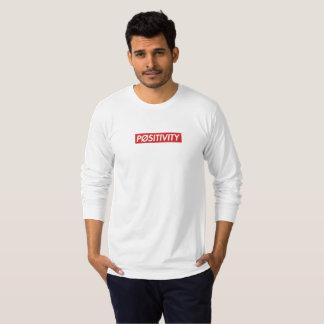 """T-shirt Douille blanche de """"PØSITIVITY"""" longue"""