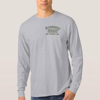 T-shirt Douille de base de musique de Bluegrass longue
