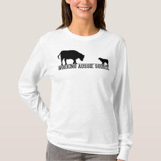 T-shirt Douille de base des femmes la longue