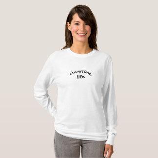 T-shirt Douille de femmes de ShowtimeLIfe longue (couleurs