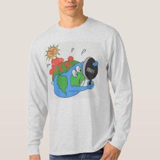 T-shirt Douille de gris de cendre de réchauffement