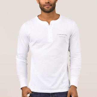 T-shirt Douille de Henley d'hommes d'existence longue