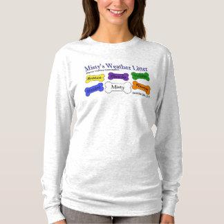 T-shirt Douille de la cendre des femmes d'ordures de temps