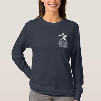 T-shirt Douille de la marine des femmes de logo de WCC