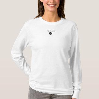 T-shirt Douille de logo de dames longue