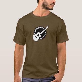 T-shirt Douille de logo de guitare de Christopher Burgan