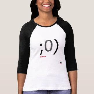 T-shirt Douille de longueur de l'émoticône 3/4 de clin
