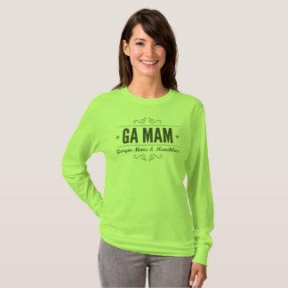 T-shirt Douille de vert d'équipe de MAMAN de GA longue